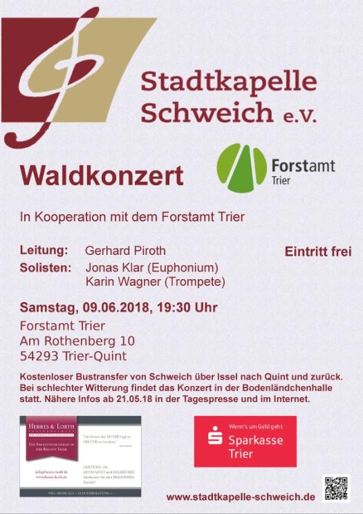 Plakat Jahreskonzert 2018 der Stadtkapelle Schweich e. V.